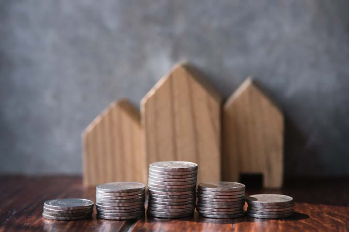 Saving To Buy A House Or Home Savings Concept With Money Coin St